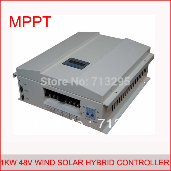 1kw 48v MPPT LCD display intelligent wind solar hybrid charge regulator controller with BOOST,RS communication