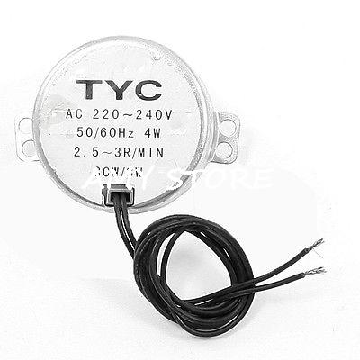 Microwave TYC-50 Model 2.5-3RPM/min 5-6RPM 8-10RPM/min 15-18RPM/min Speed Wired Synchronous Motor 220-240VAC 4W 50/60Hz CCW/CW