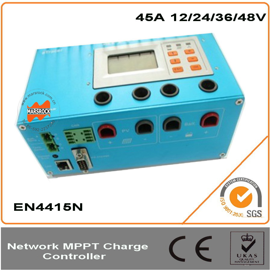 45A Advanced eTracer MPPT Solar Charge Controller, 12/24/36/48V auto recognise, with RS232 CANB and Ethernet communication port
