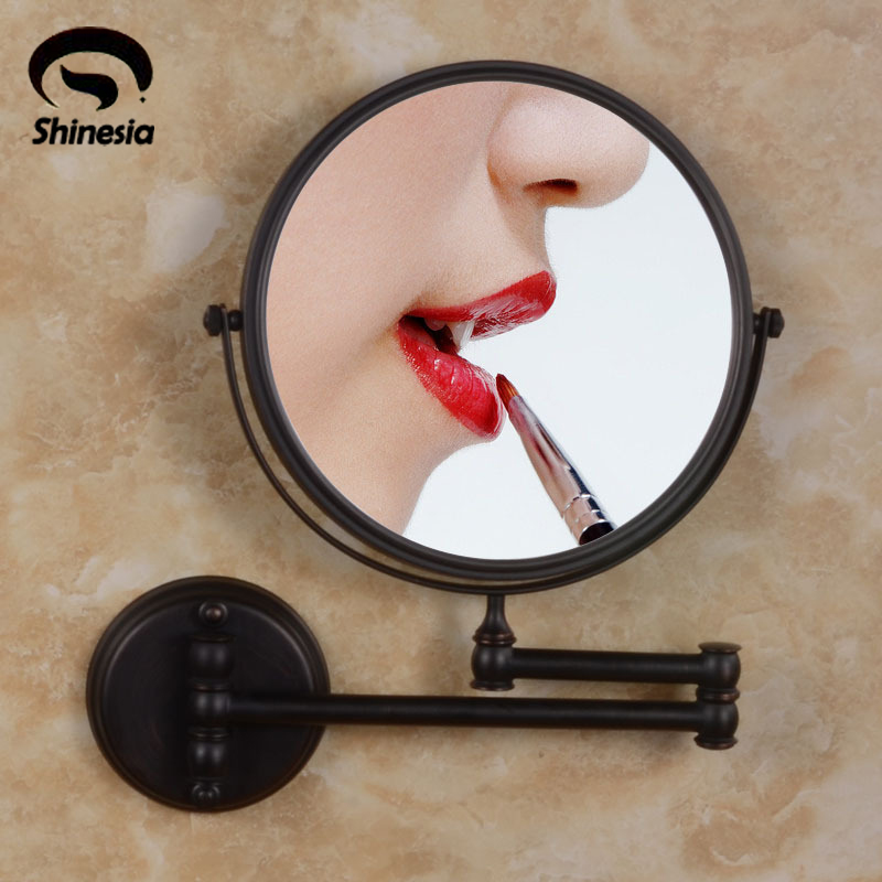 Oil Rubbed Bronze 8 Inch Make up Mirror Dual Sides Bath 3X Hairdressing Magnifer