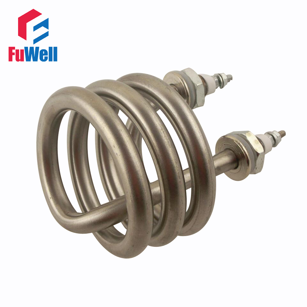 Custom Welcomed!!!  Spiral Stainless Steel Immersion Heater Iron Head Heating Element AC 220V 2.5KW for Heating Distilled Water