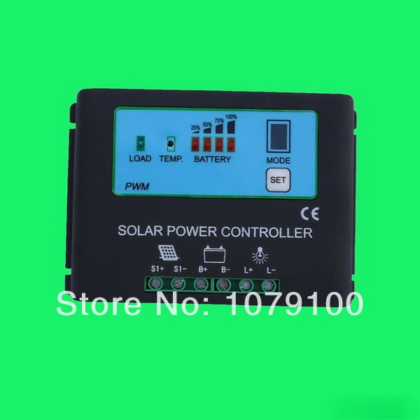 CE&RoHS Certificate New Style Metal Housing Power Display 48V solar regulator 30a
