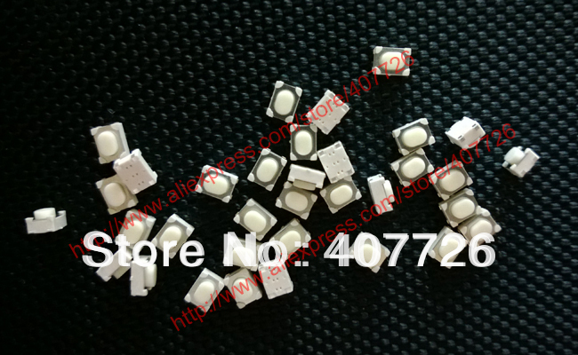 50PCS Micro Push Button 3X4X2.5 4feet (U type) SMT tact switch mounting for car system/Cigarette Tool