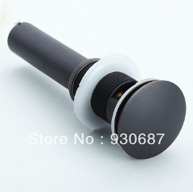 Classical Oil Rubbed Bronze Bathroom Bouncing Type Soild Brass Water Water Drainage WIthout Spillway Hole