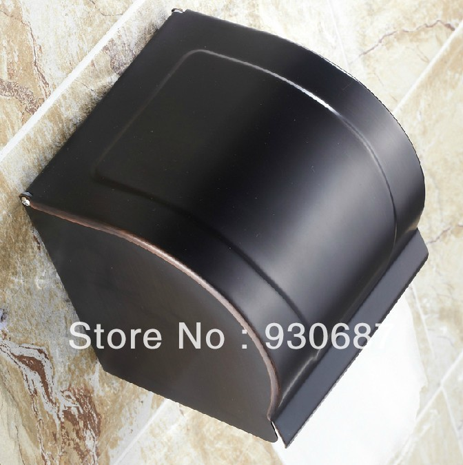New Oil Rubbed Bronze Bathroom Toilet Tissue Holder Wall Mount Brass Closed Paper Box