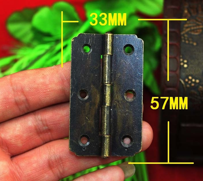 Small Antique Bronze 180 Degree Flat Hinge / 6  Holes Small Hinge / 57*33MM