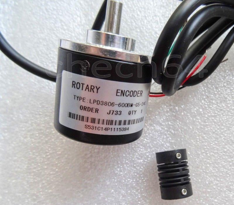 coupling Encoder 100P//R Incremental Rotary Encoder AB phase encoder 6mm Shaft