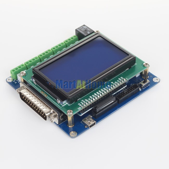 Intelligent 5 Axis CNC Breakout Board Interface w/ LCD