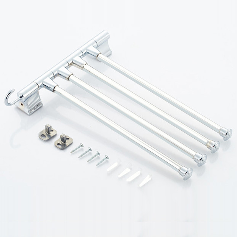 Stainless Steel Towel Holder Bathroom Rack Bar Rotating Polished Holders Wall-mounted Kitchen Organizer Hardware Accessory