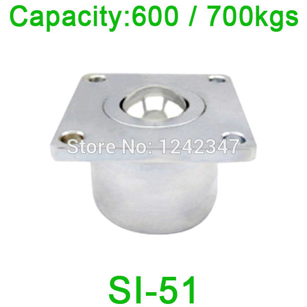 SI-51 ball bearing Wheel 700kgs load capacity Ball Roller Steel Caster SI51 Square flange Conveyor Ball transfer unit