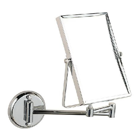 Bath Mirrors 3 x Magnifying Mirror Makeup Cosmetic Mirrors Wall Mounted Double Side Brass Silver Square Mirror Of Bathroom 1758