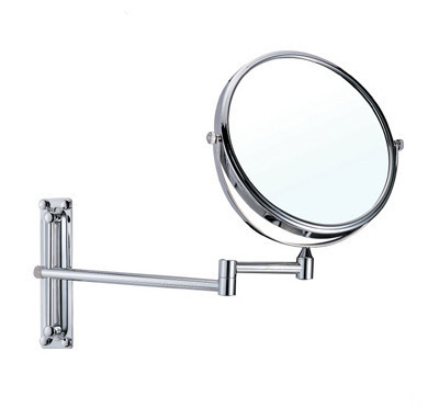 OWOFAN Bath Mirrors 8 Inch Dual Makeup Mirrors 1:1 and 1:3 Magnifier Copper Cosmetic Bathroom 2-Faced Wall Mount Mirror 1108