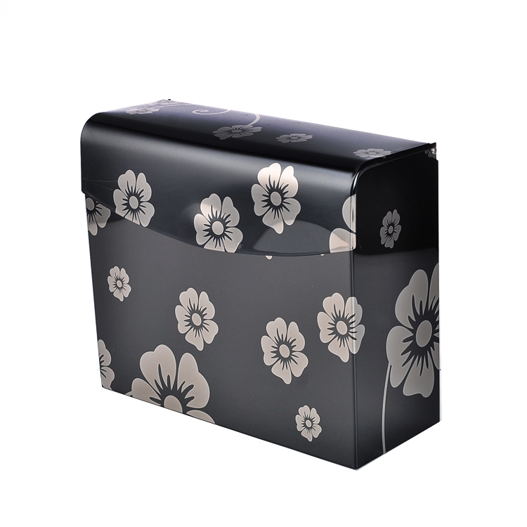 Black plum flower pattern Toilet paper box stainless steel paper holder Bathroom Accessories