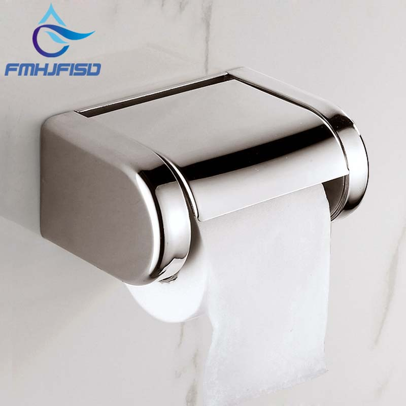 Hot Sale! Modern Square Polished Chrome NEW Chrome Stainless Steel Bathroom Toilet Paper Holder Tissue Box