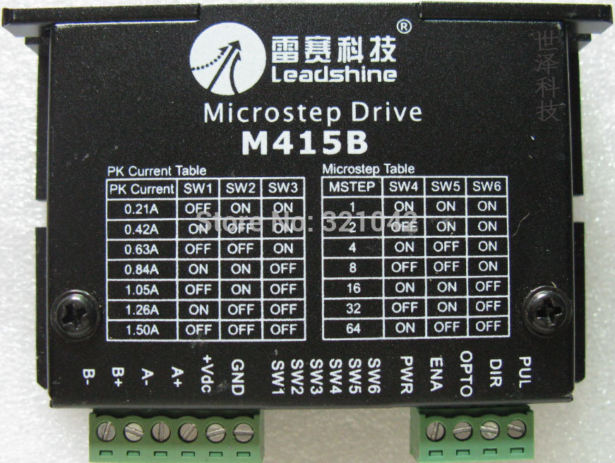 Stepper Driver Leadshine M415B work 24V-40 VDC output 0.21A to1.5A Fit NEMA 16 or NEMA17Stepper motor output 0.3NM