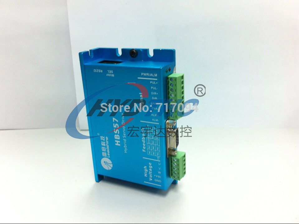 300W Leadshine Closed Loop 3-phase Hybrid Servo Drive Kit HBS57 Drive + 573S20EC Motor with Encoder #SM359 @SD