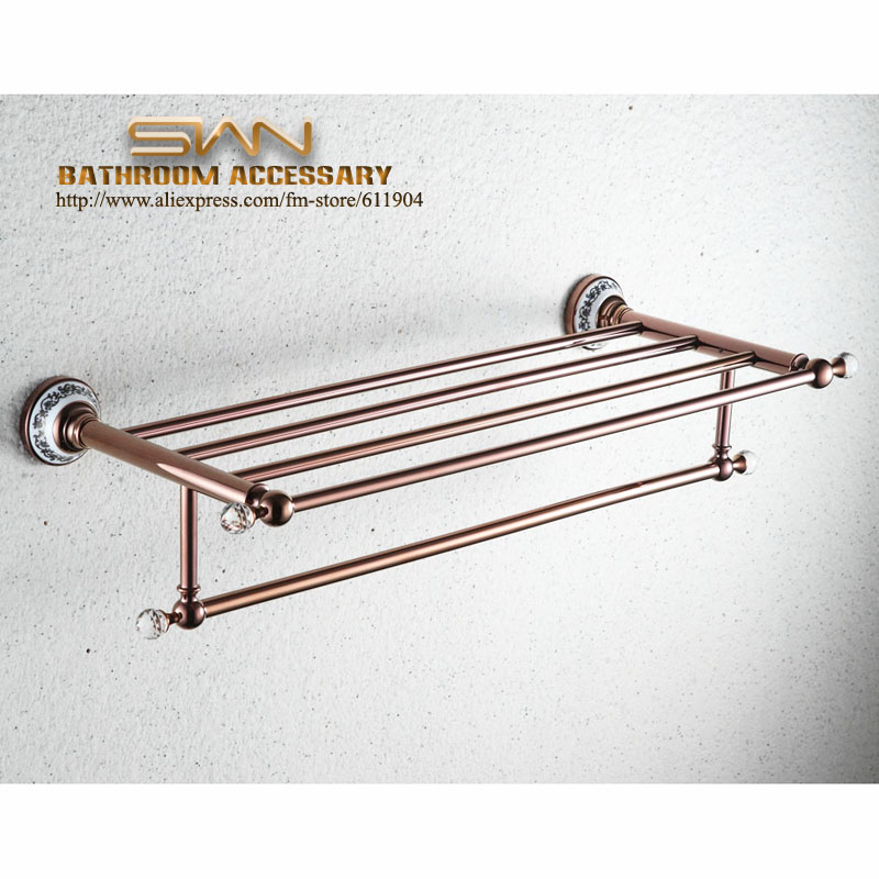 Luxury Claret Red F Bathroom Hardware Bath Towel Rack Shelf With Towel Bar 36F1701