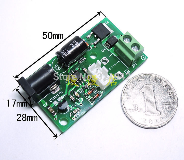 CCMmini Micro PWM DC motor speed controller 6V12V24V 3A small speed board