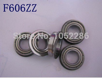 50pcs/lot    F606ZZ   Flanged bearing  F606-2Z  shielded Miniature flange deep groove ball bearings 6*17*6 mm
