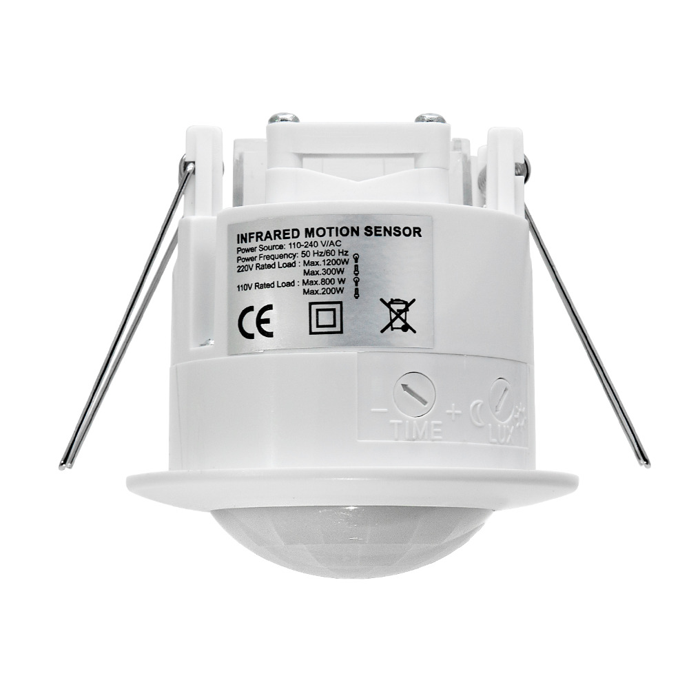 2 PCS High quality 110V-220V/AC Ceiling mounting Auto infrared body motion sensor light switch ( ET041)