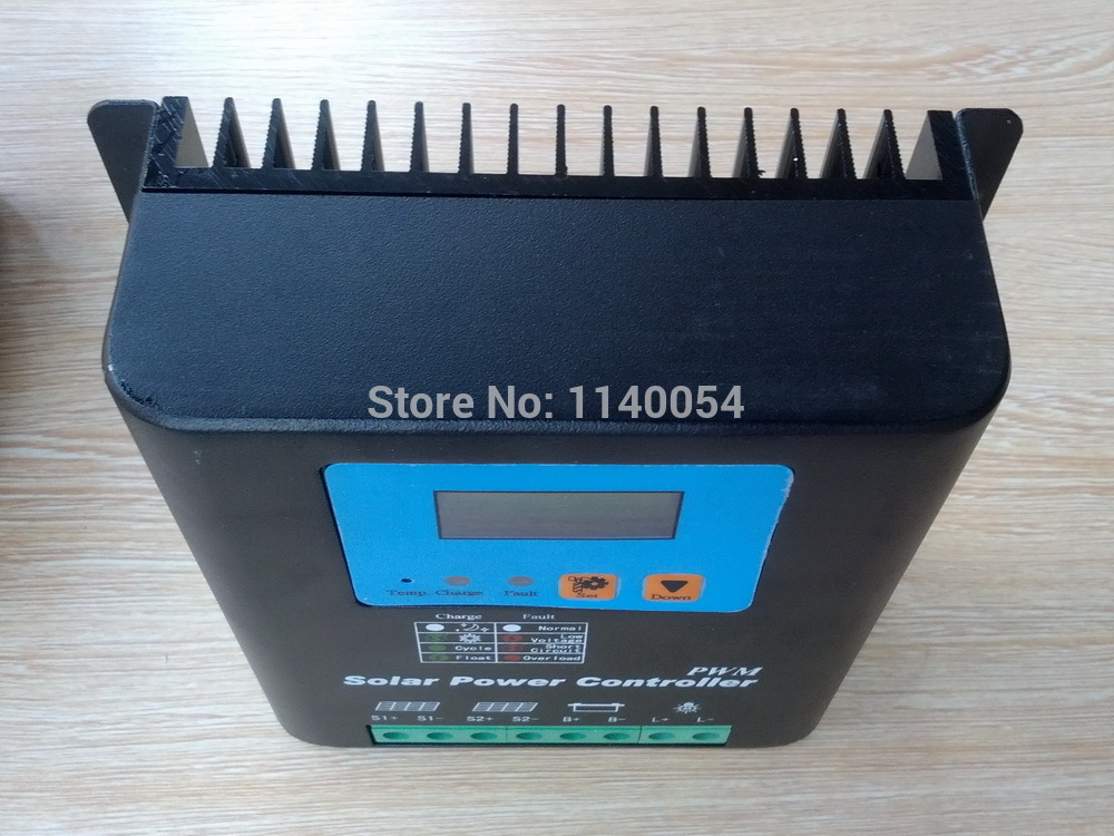 50A 12V/24V Auto-work Solar Charge Controller, 12V 24V Solar Battery Controller 50A Home use