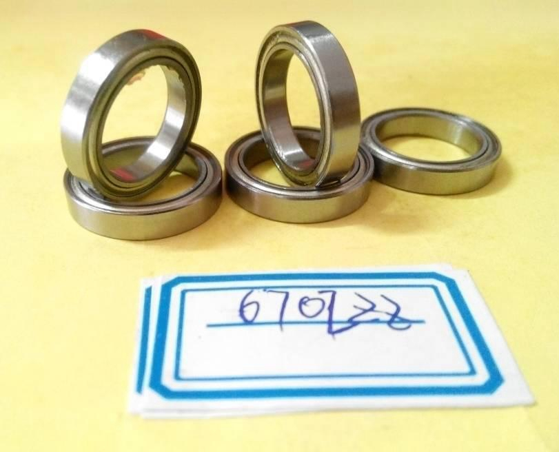 50pcs/lot  6702ZZ  thin wall bearing  6702Z  6702 - 2Z   61702ZZ  shielded ultra-thin deep groove ball bearings 15x21x4 mm