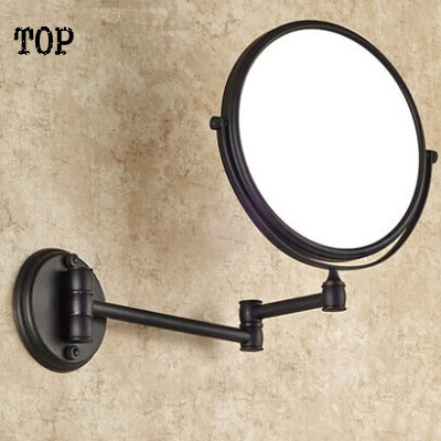 Antique black 8 inch bathroom mirrors magnifying mirror with wall mounting cosmetic mirror bathroom illuminated mirrors