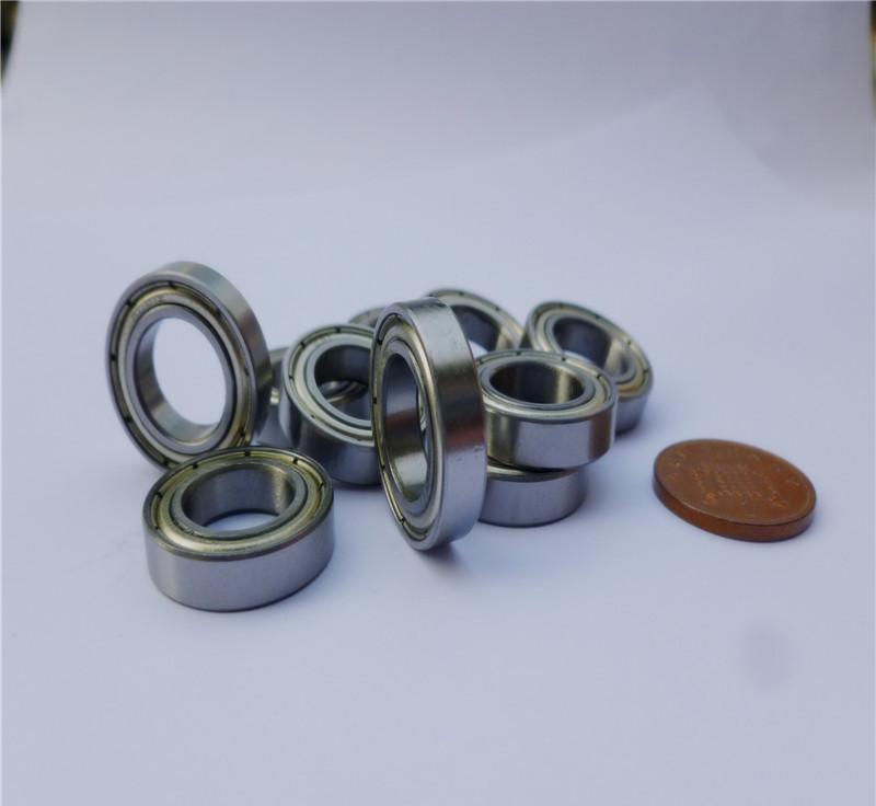 Pcs flanged bearing f zz shielded flange deep groove