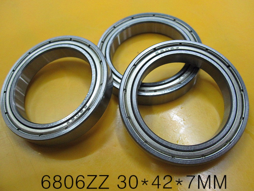 20pcs/lot  6806ZZ  thin wall bearing  6806  6806Z 61806ZZ  shielded ultra-thin deep groove ball bearings 30x42x7 mm