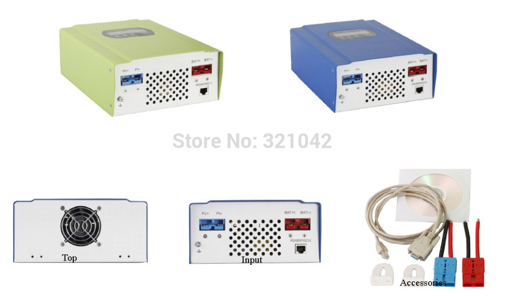 12V 24v 48V auto work 50A mppt solar charge controller with max input voltage 150v LCD RS232 solar regulator