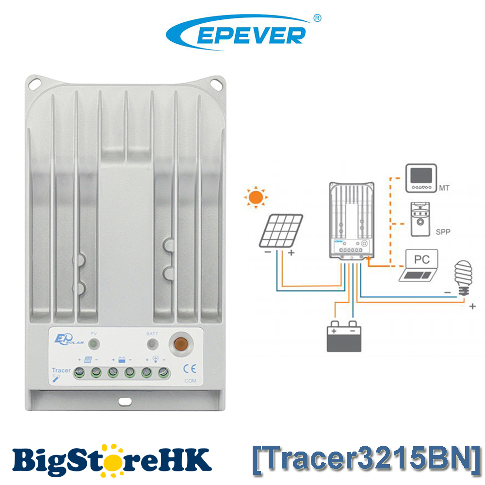 MPPT 30A Solar controller Factory price EPSOLAR Tracer3215BN Dual Timer Control Protect Solar Panel Voltage Regulator