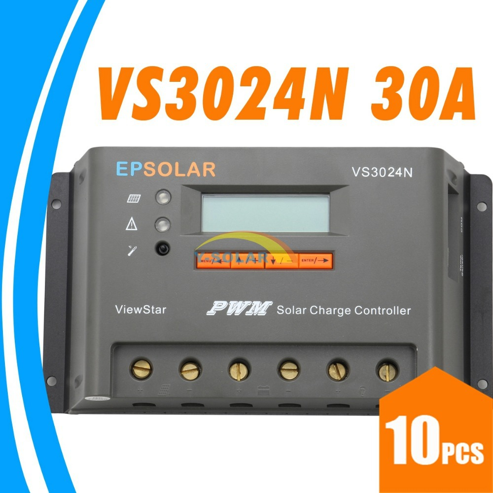 30A Solar Charge Controller VS3024N EPsolar Solar Panel 12V 24V battery charge controller 30A LCD charger controller EP solar