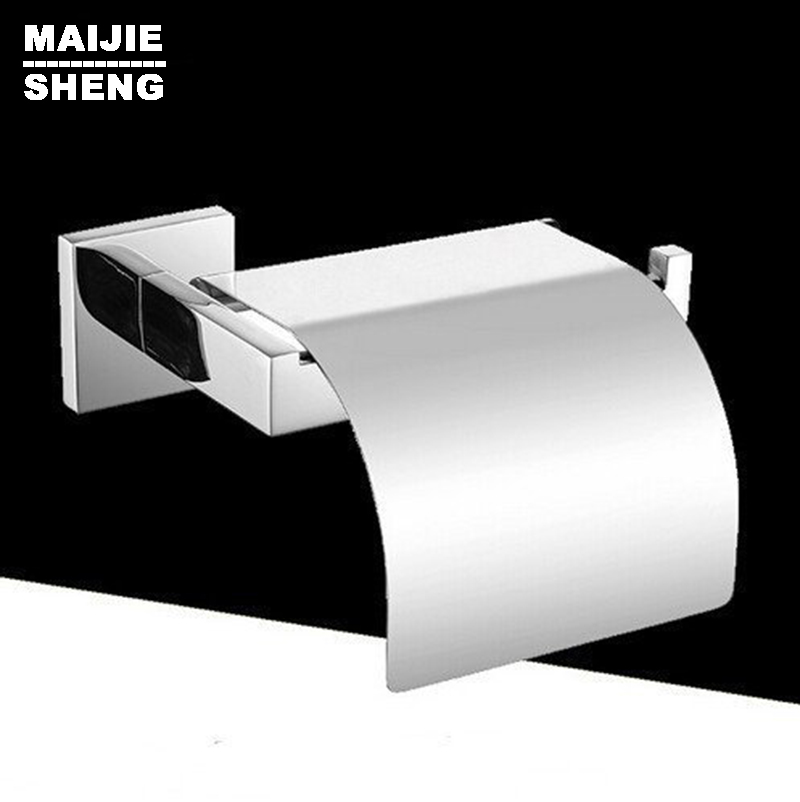 Bathroom accessories Products Solid stainless steel 304 Chrome Toilet Paper Holder,Roll Holder,Tissue Holder With Cover