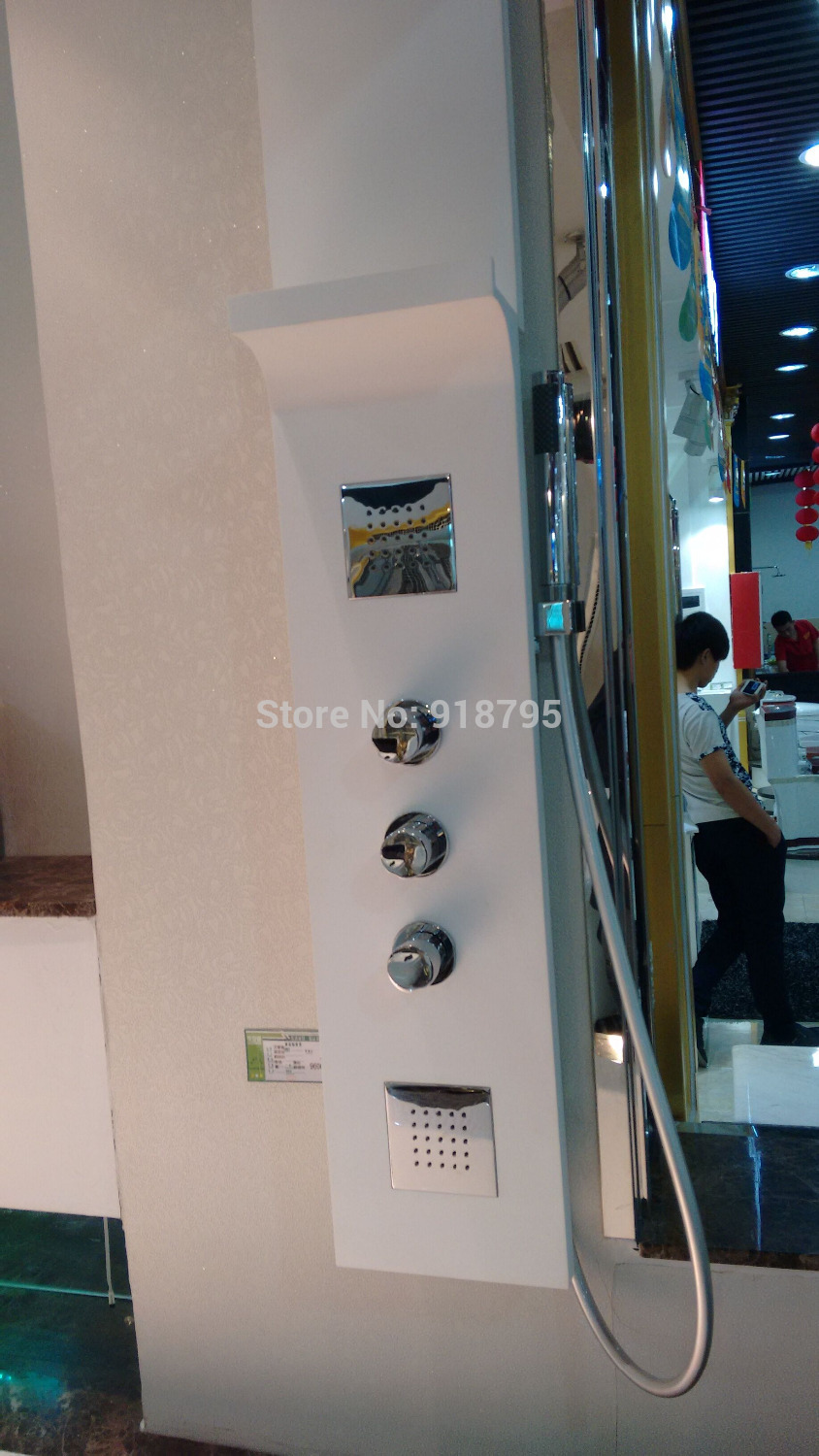 Matt Solid surface stone shower panel wall mounted Corain shower column Body massage Jets Sprinkler  RS0032