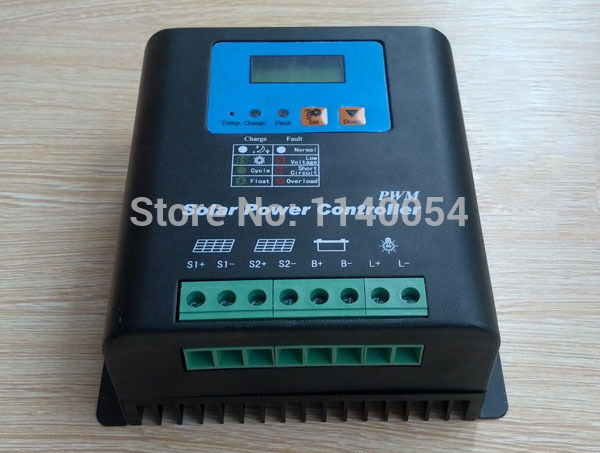 80A 12V/24V Auto-work Solar Charge Controller, 12V 24V Solar Battery Controller 80A Home use