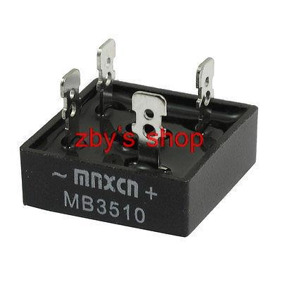 MB3510 1KV 35A Single Phase Bridge Rectifier Half-Wave Black