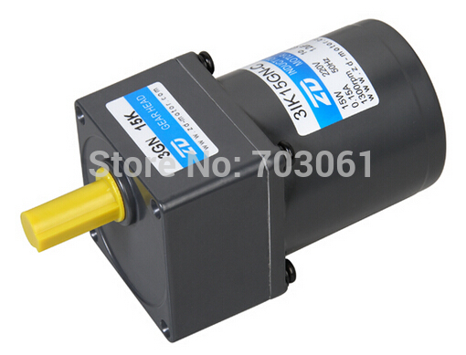 70mm 15W AC gear motor single-phase motor output speed 54 rpm reducer ratio 25  220v