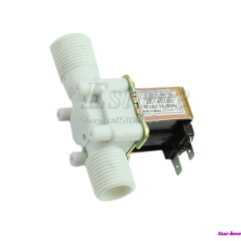 "Hot Electric Solenoid Valve Magnetic DC 12V N/C Water Air Inlet Flow Switch 1/2"" #S018Y# High Quality"
