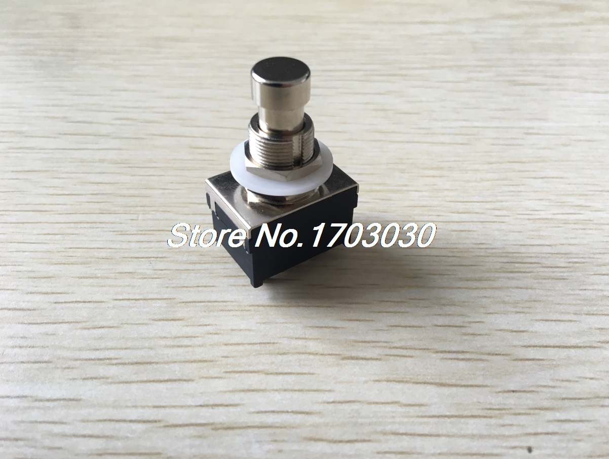 12mm 12Pin Soldering 4PDT Latching Metal Foot Switch for Electric Guitar