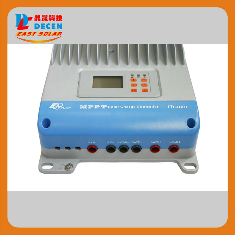 100% TURE 45A MPPT Solar Charge Controller RS232 RS485 With Modbus Protocol CAN Bus 12V 24V 36V 48V Auto Work, LCD Display