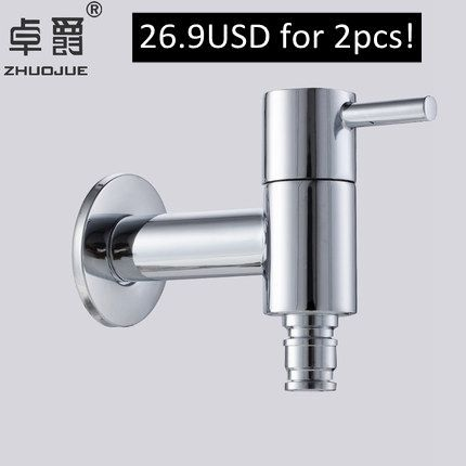 "Brand 1/2"" Brass Laundry Pool Tap, Washing Machine Bibcock ,Single Cold Faucet, Bathroom Mixers"