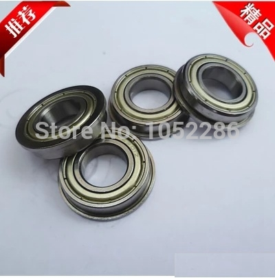 100pcs  Flanged bearing  F6802ZZ  shielded  flange deep groove ball bearings 15*24*5 mm