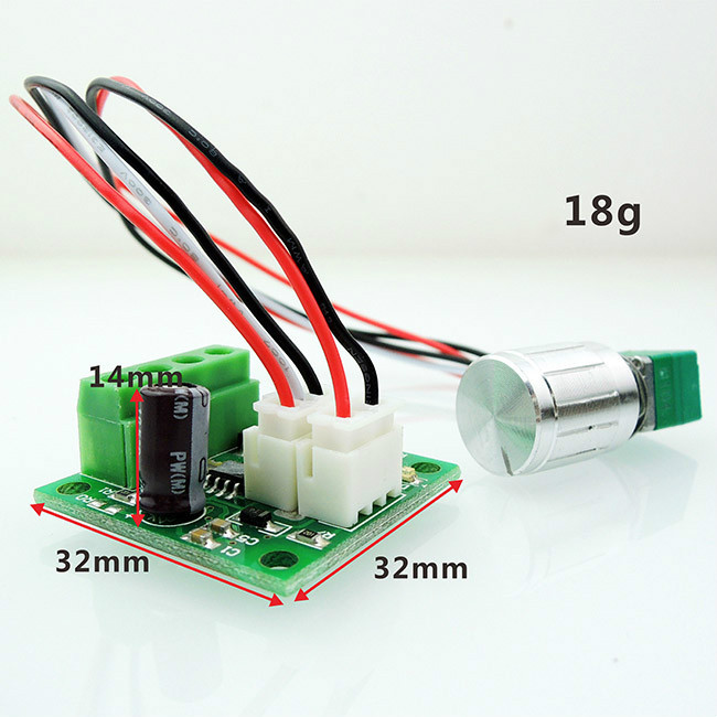 5pcs 1.8V 5V 6V 12V 24V 2A DC Motor Speed Controller Switch Variable Speed Regulator