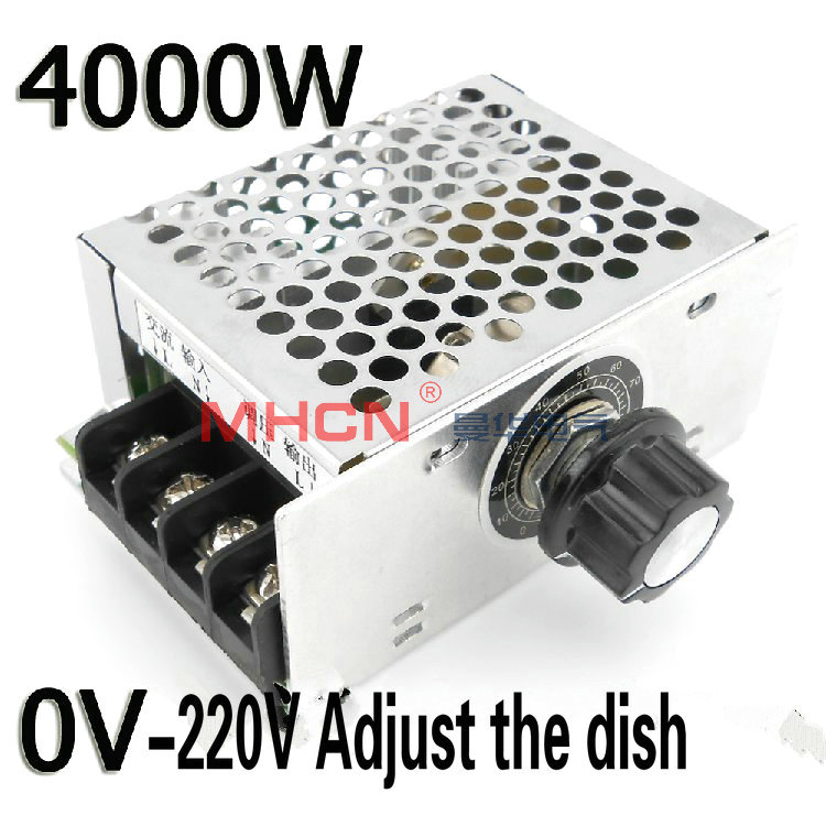 4000W 220V  high power rectifier AVR motor speed Controller  thermostat equipped with shell  and dial