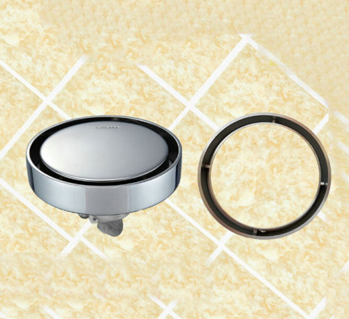 Invisible Insert tile  floor drain odor pest top sus 304 grade Round waste floor drain shower drain