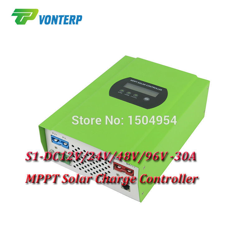MPPT Solar Charge Controller Solar Charge Regulator,96V 30A MPPT Solar Panel Charge Controller Regulator