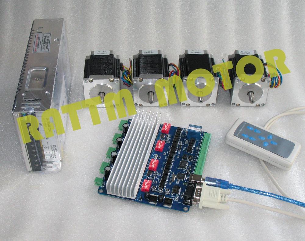 4 aixs USBCNC NEMA23 270 oz-in/3 0A CNC stepper motor