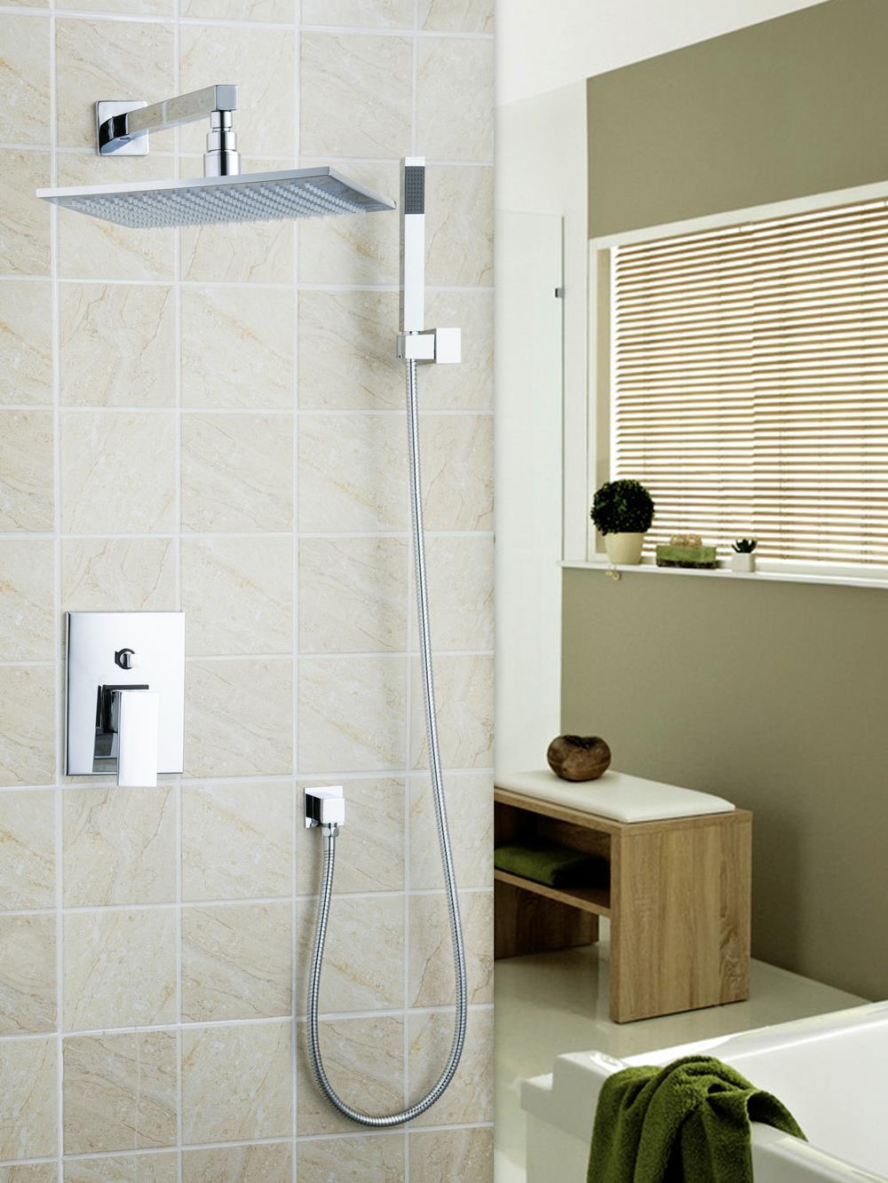 9 Inch Luxury Bathrome Rainfall Shower Head Polished Wall