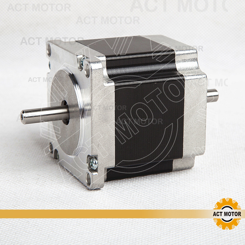 ACT Motor 1PC Nema23 Stepper Motor 23HS6620B Dual Shaft 185oz-in 56mm 2A 6-lead 2Ph CE ROHS ISO CNC Router Metal Engraving