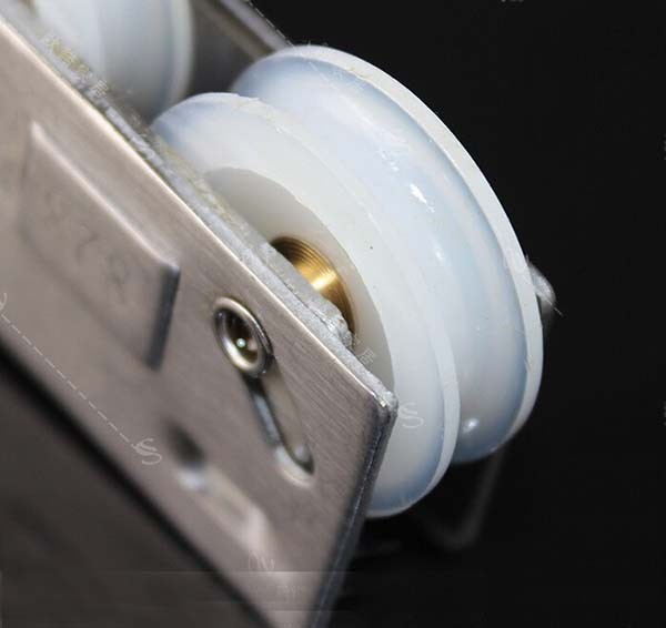 828 door/window double wheel pulley for aluminum alloy door/window sliding window dual wheel couple KF410